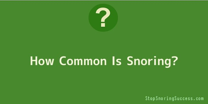 How Common Is Snoring