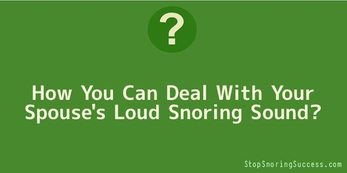 How You Can Deal with Your Spouse's Loud Snoring Sound