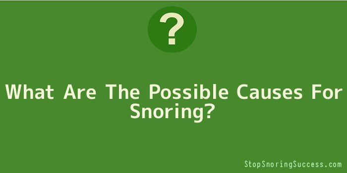 What Are The Possible Causes For Snoring