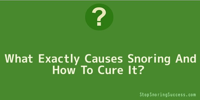 What Exactly Causes Snoring And How To Cure It